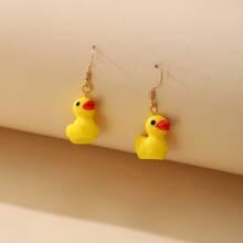 Duck Charm Drop Earrings