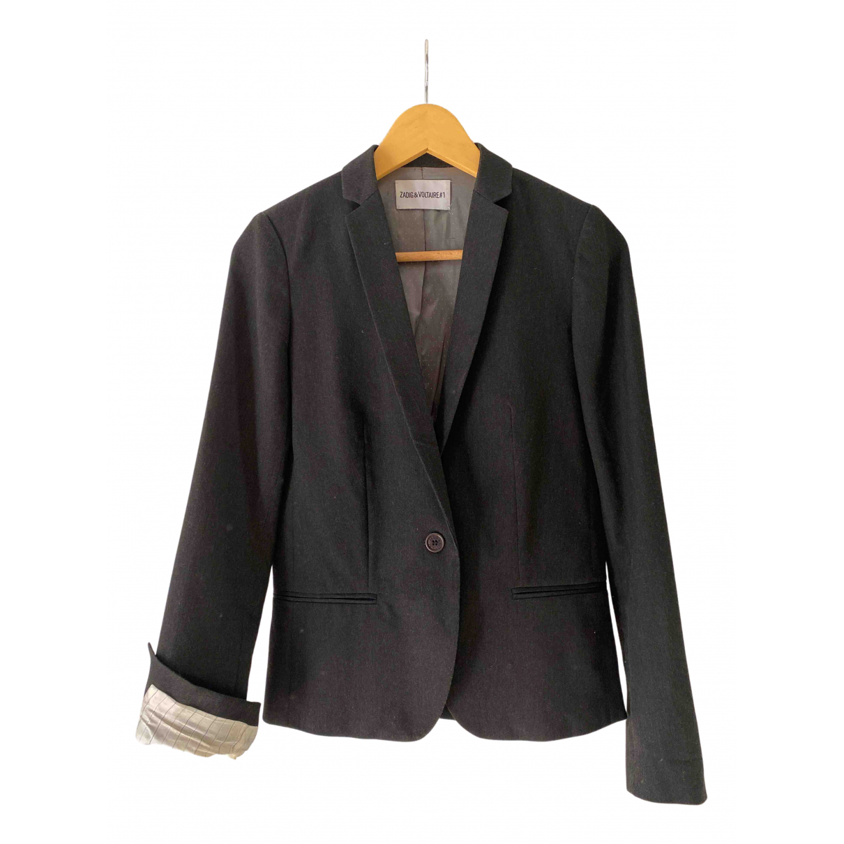 Zadig & Voltaire N Anthracite jacket for Women 34 FR