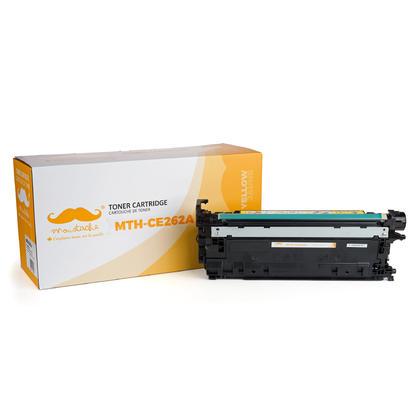 Compatible HP 648A CE262A cartouche de toner jaune - Moustache®
