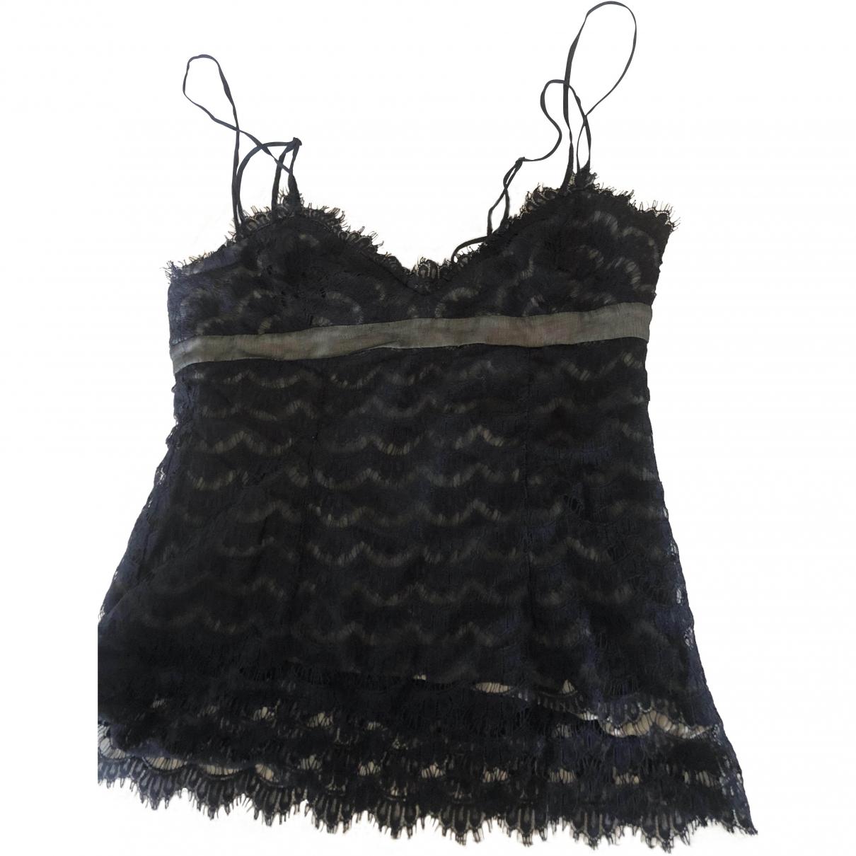 Bcbg Max Azria - Top   pour femme en dentelle - noir