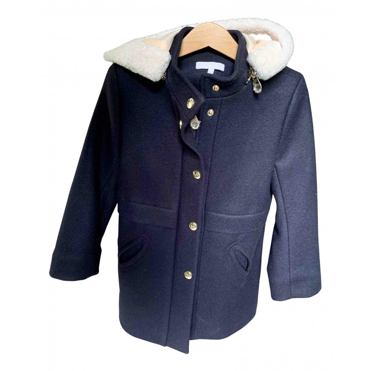 Chloe - Blousons.Manteaux   pour enfant en laine - bleu