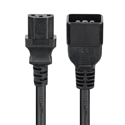 IEC C13 to IEC C20 Power Cable - 14AWG SJT ,6ft black PrimeCables®