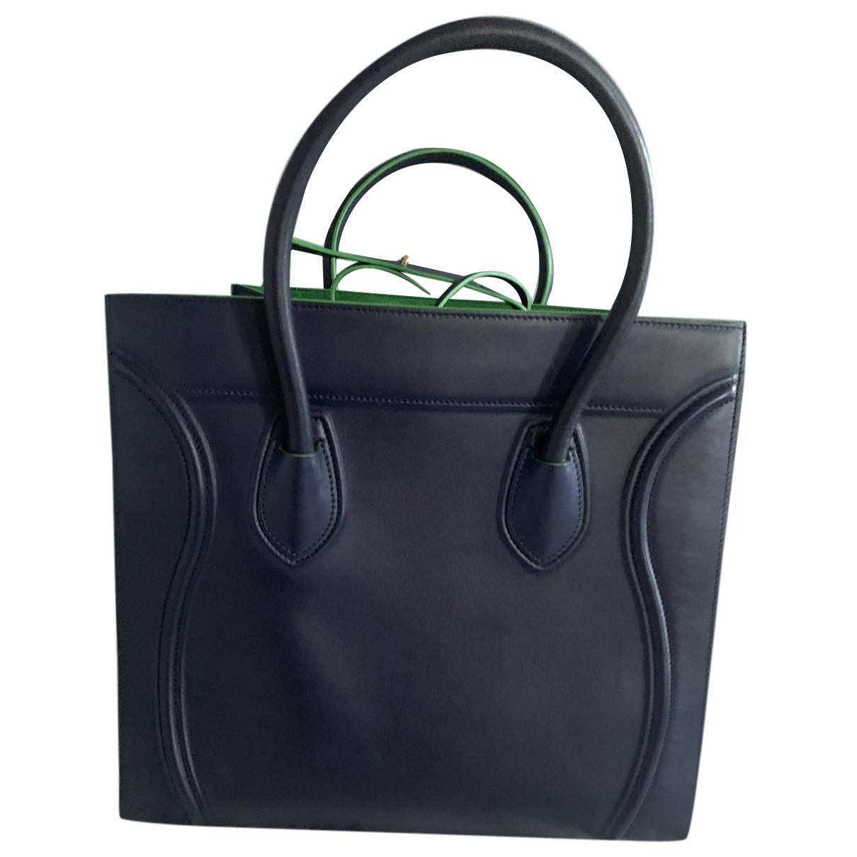 Celine Luggage Phantom Blue Leather handbag for Women N