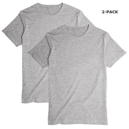 T-shirt à manches courtes GRIS- LIVINGbasics ™ - L, Paquet de 2