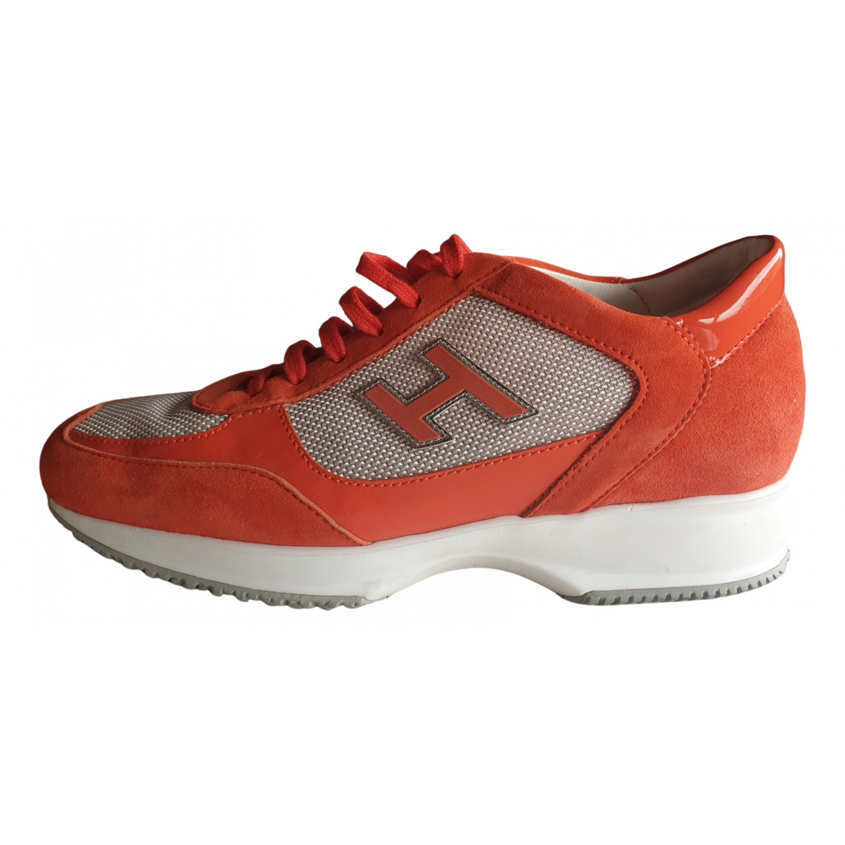 Hogan - Baskets   pour femme en suede - orange