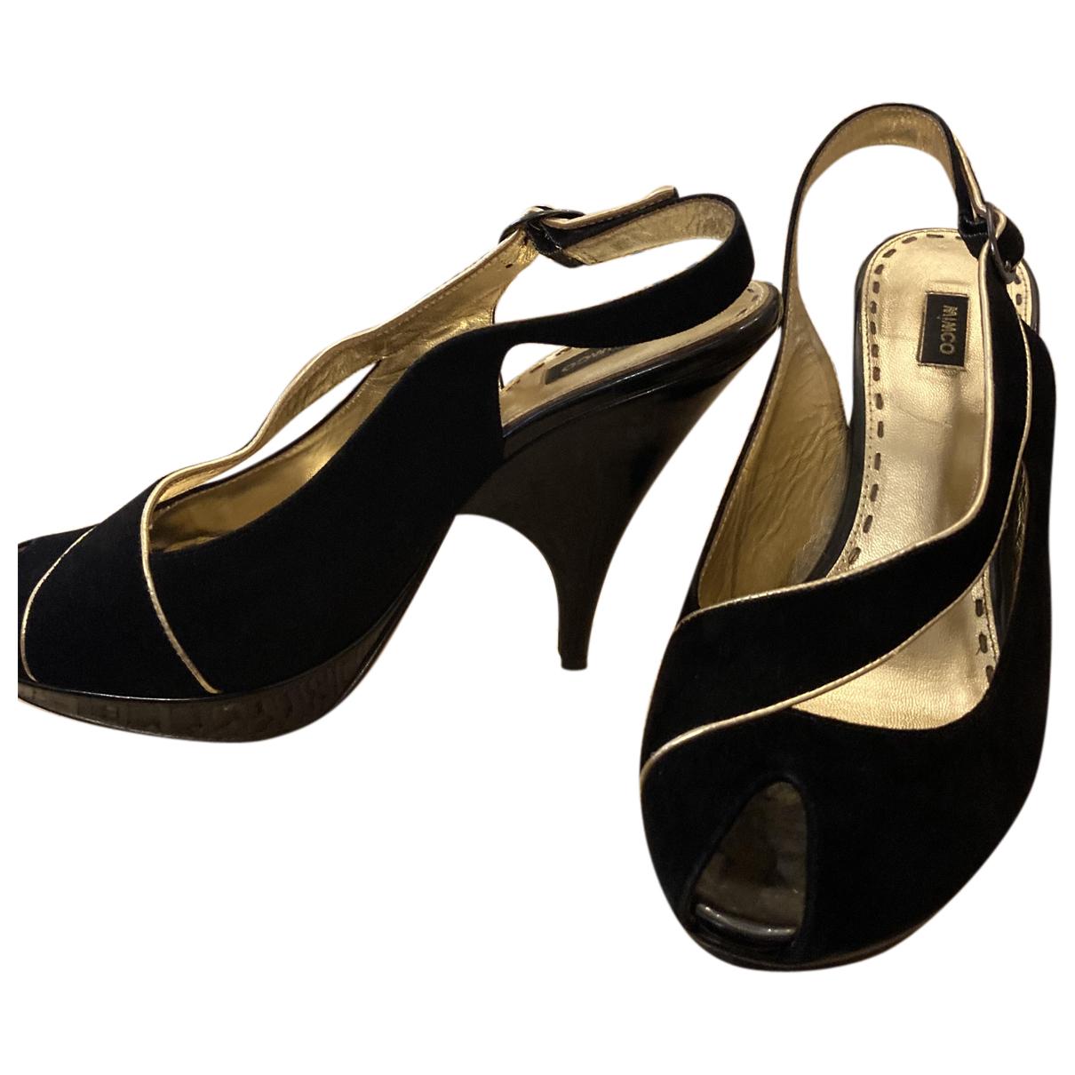 Mimco - Sandales   pour femme en cuir - noir