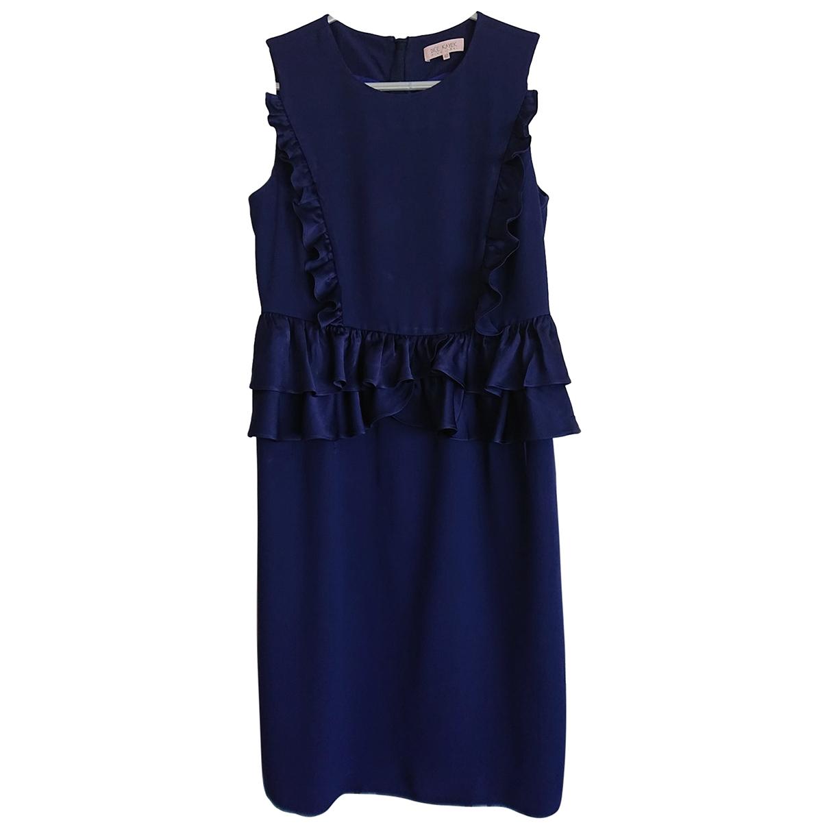 Dice Kayek \N Kleid in  Blau Viskose