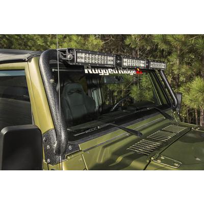 Rugged Ridge Windshield Light Bar Kit (Black) - 11232.29