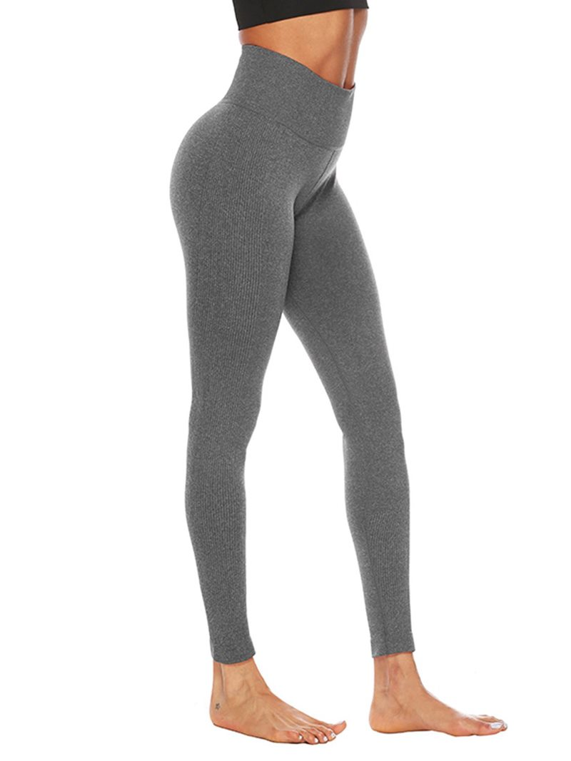 Ericdress Anti-Sweat Cotton Blends Solid Yoga Ankle Length Pants