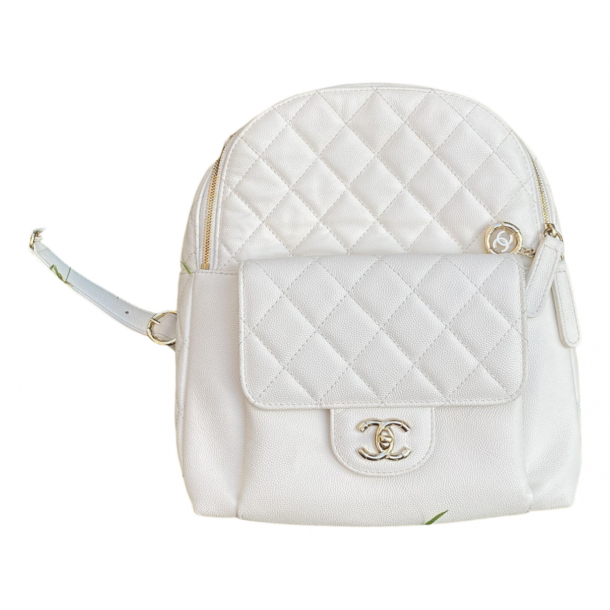 Chanel N White Leather backpack for Women N
