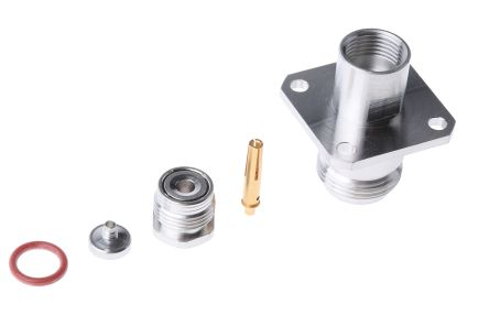 Radiall Straight 50Ω Panel Mount Coaxial Connector, jack, Bronze, Clamp Termination, RG179, RG187, RG188, RG316