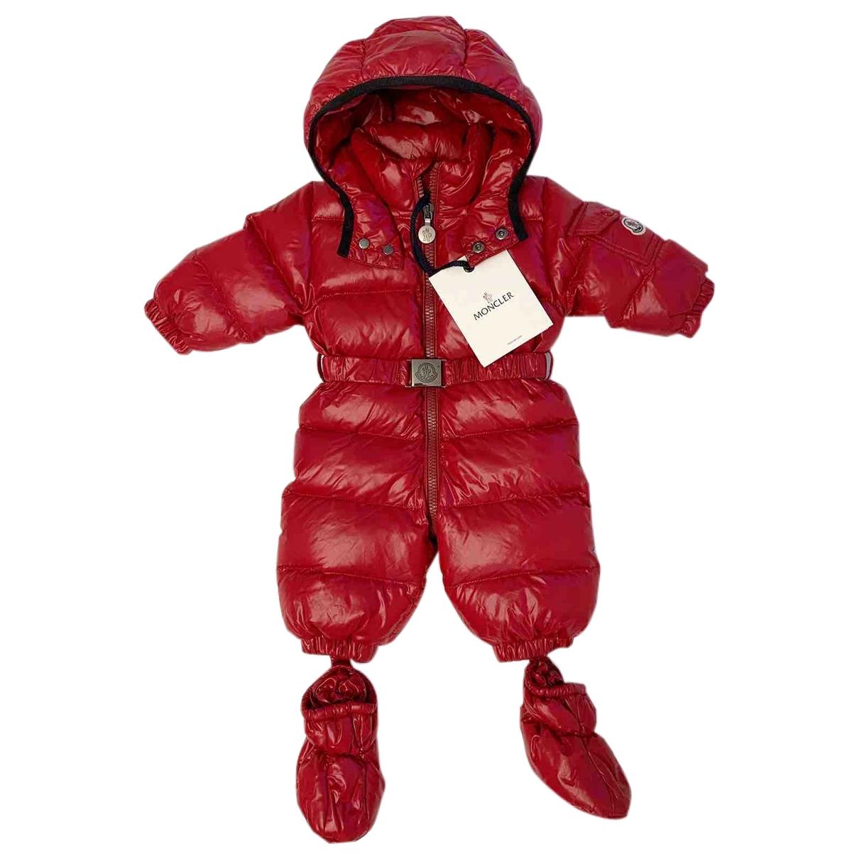 Moncler \N Jacke, Maentel in  Rot Polyester