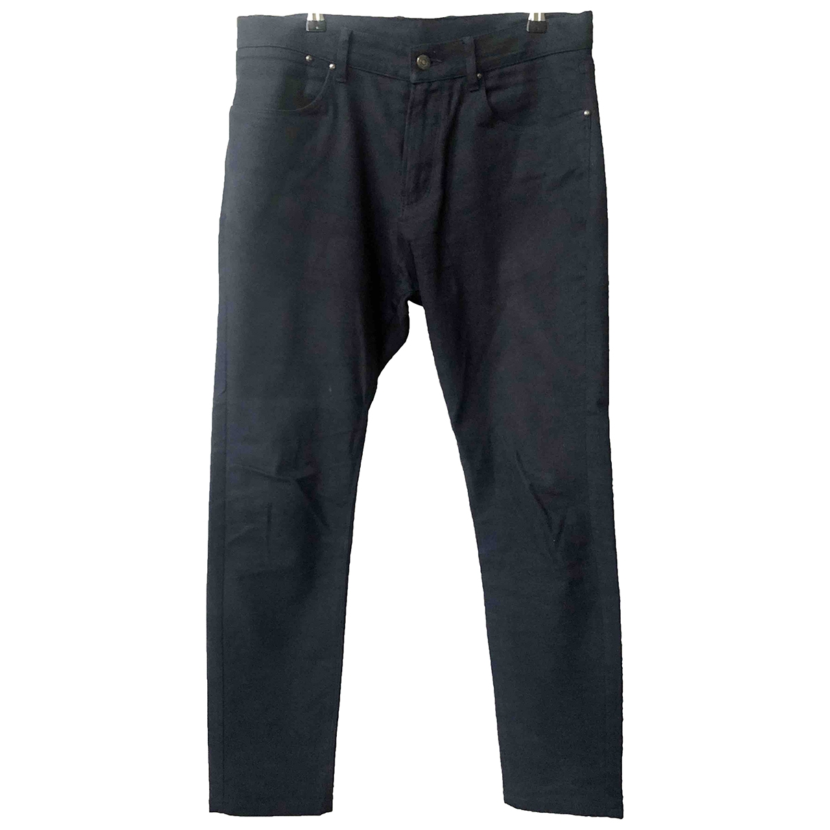 Alfred Dunhill \N Navy Wool Trousers for Men 32 UK - US