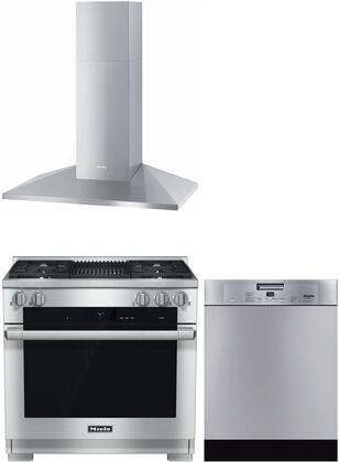 3 Piece Kitchen Appliance Package with HR1935DFGR 36
