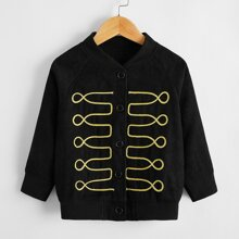 Toddler Boys Embroidered Corduroy Bomber Jacket