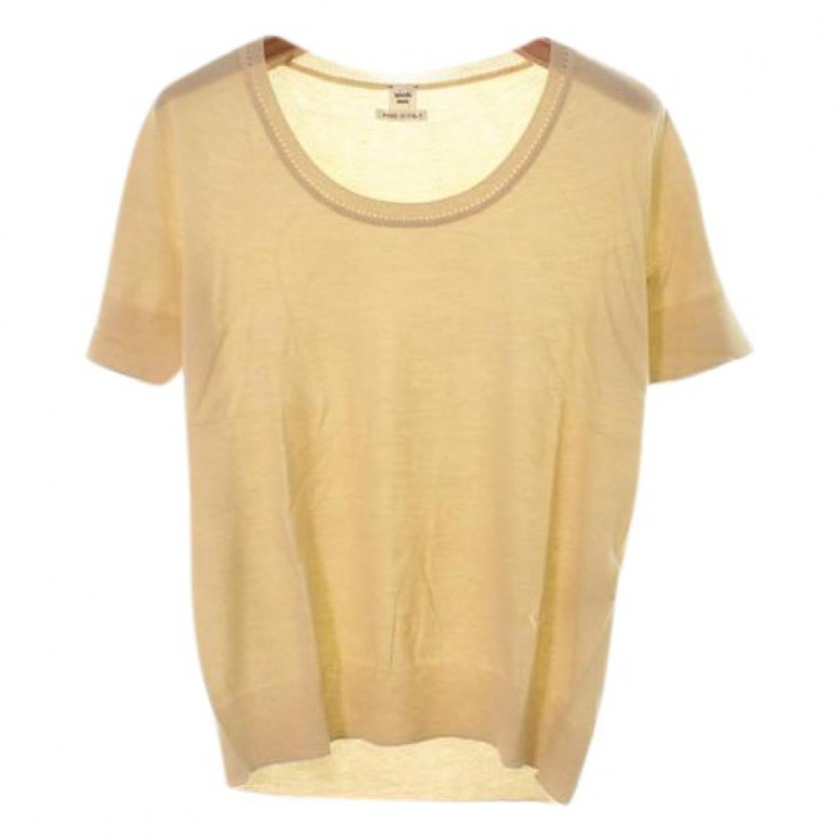 Hermes - Top   pour femme en cachemire - beige