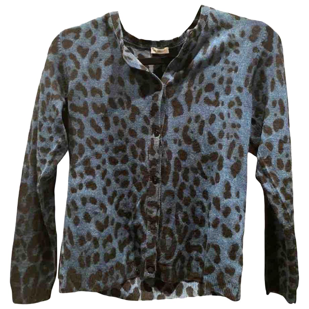 Dolce & Gabbana - Pull   pour femme en laine - bleu