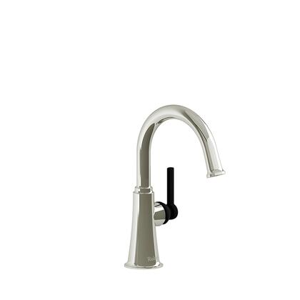 Momenti MMRDS00LPNBK-05 Single Hole Lavatory Faucet with L Lever Handle without Drain 0.5 GPM  in Polished