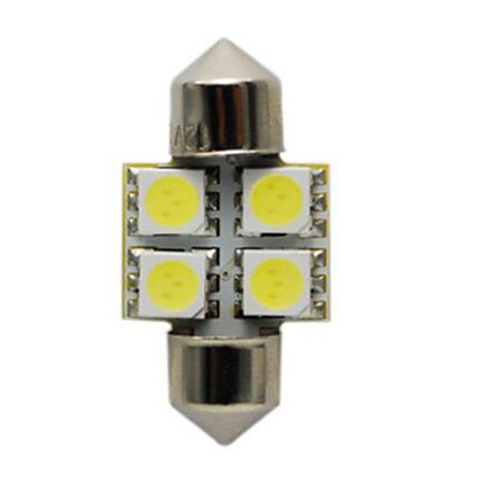 LED Auto Bulbs S8.5 4SMD LED Car Roof Lamp/Reading Lamp LED Car Light 31mm - White