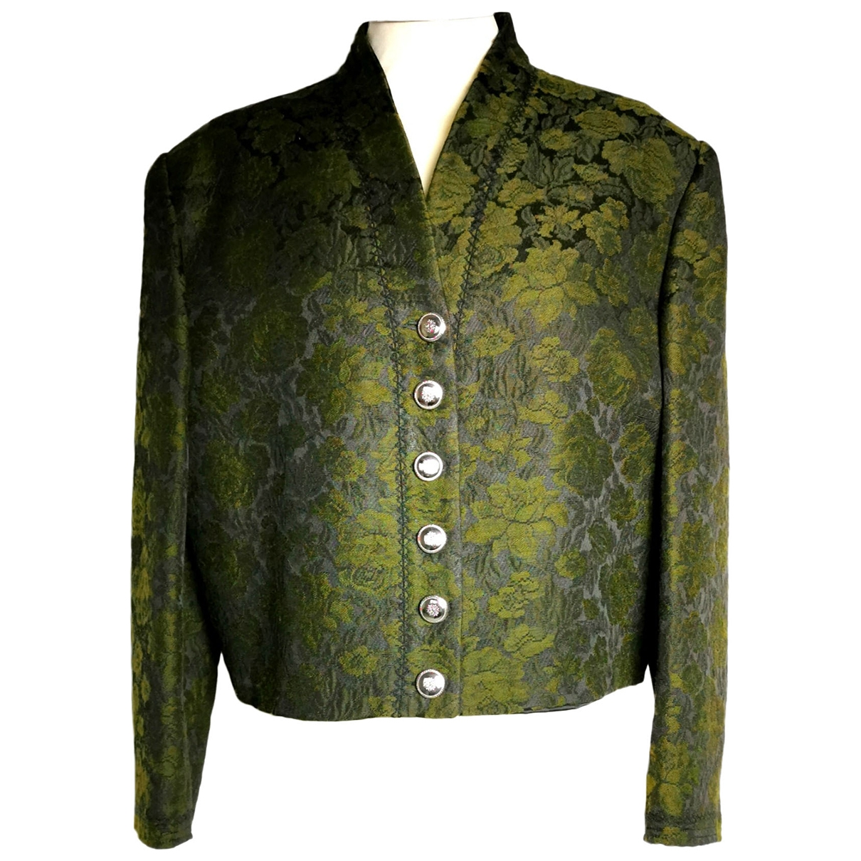 Non Signé / Unsigned \N Green Cotton jacket for Women 44 IT