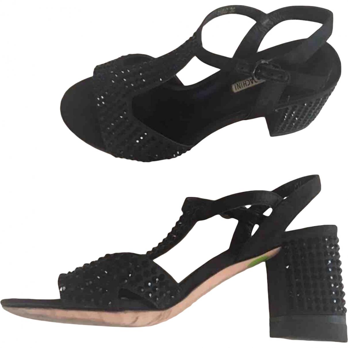 - Sandales   pour femme en a paillettes - noir