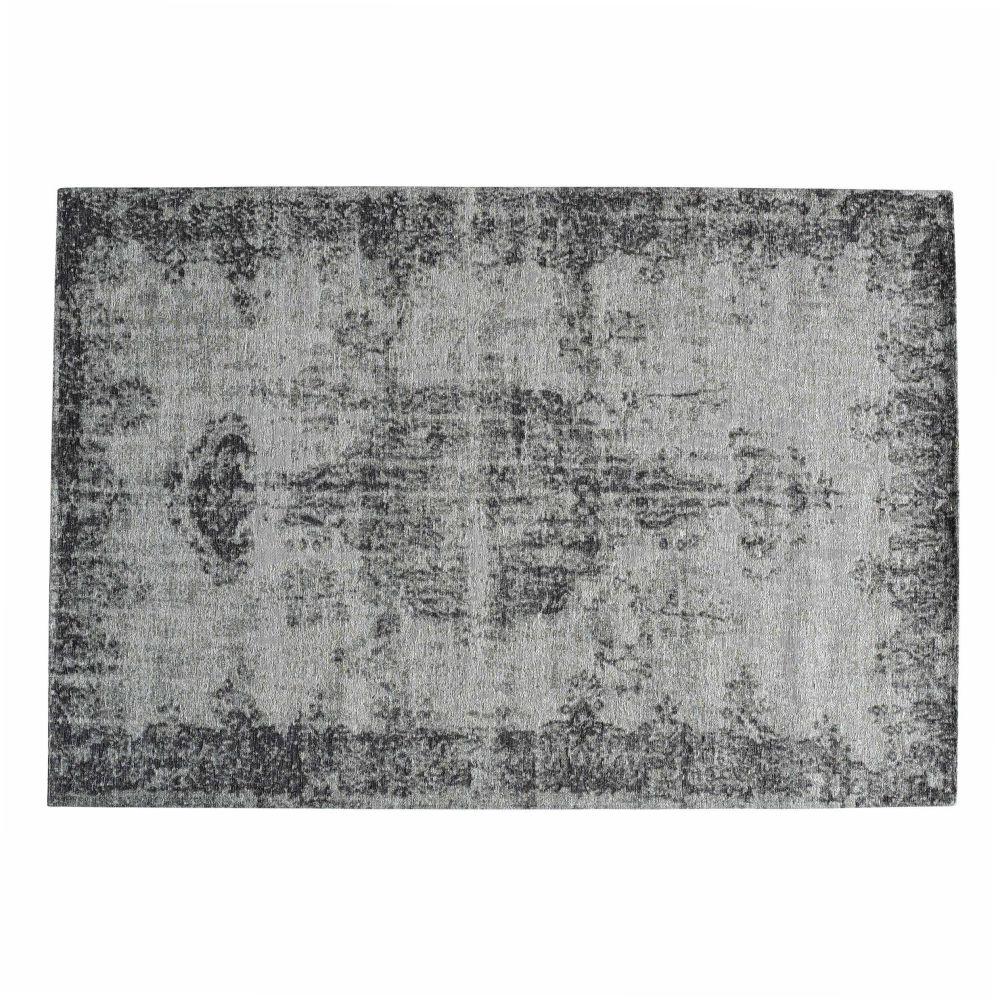 Kurzhaarteppich, grau, 140x200