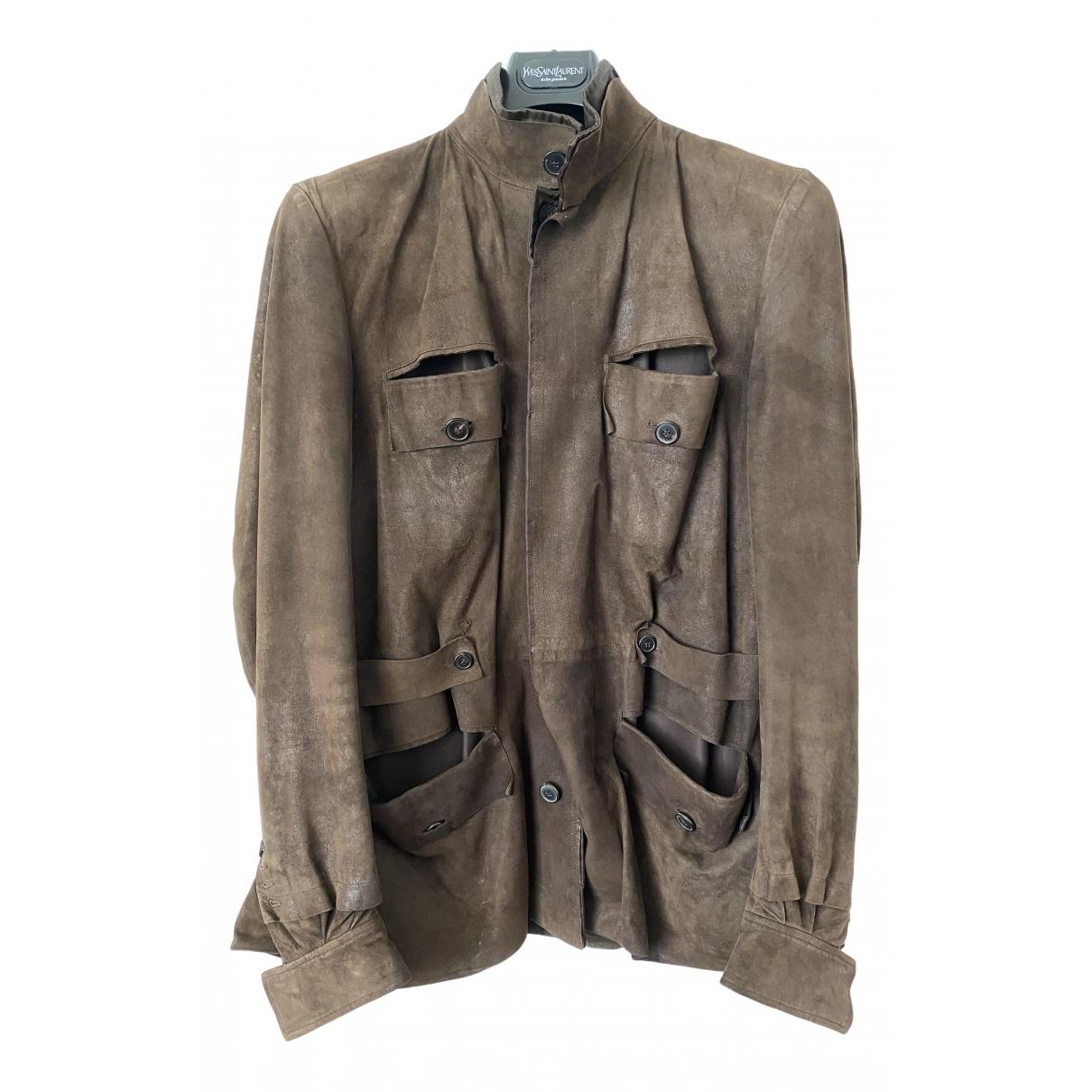 Yves Saint Laurent \N Brown Suede jacket  for Men 44 FR