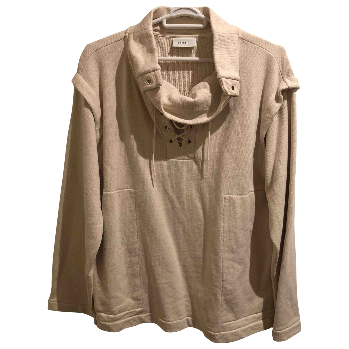 Lemaire - Pull   pour femme en coton - beige