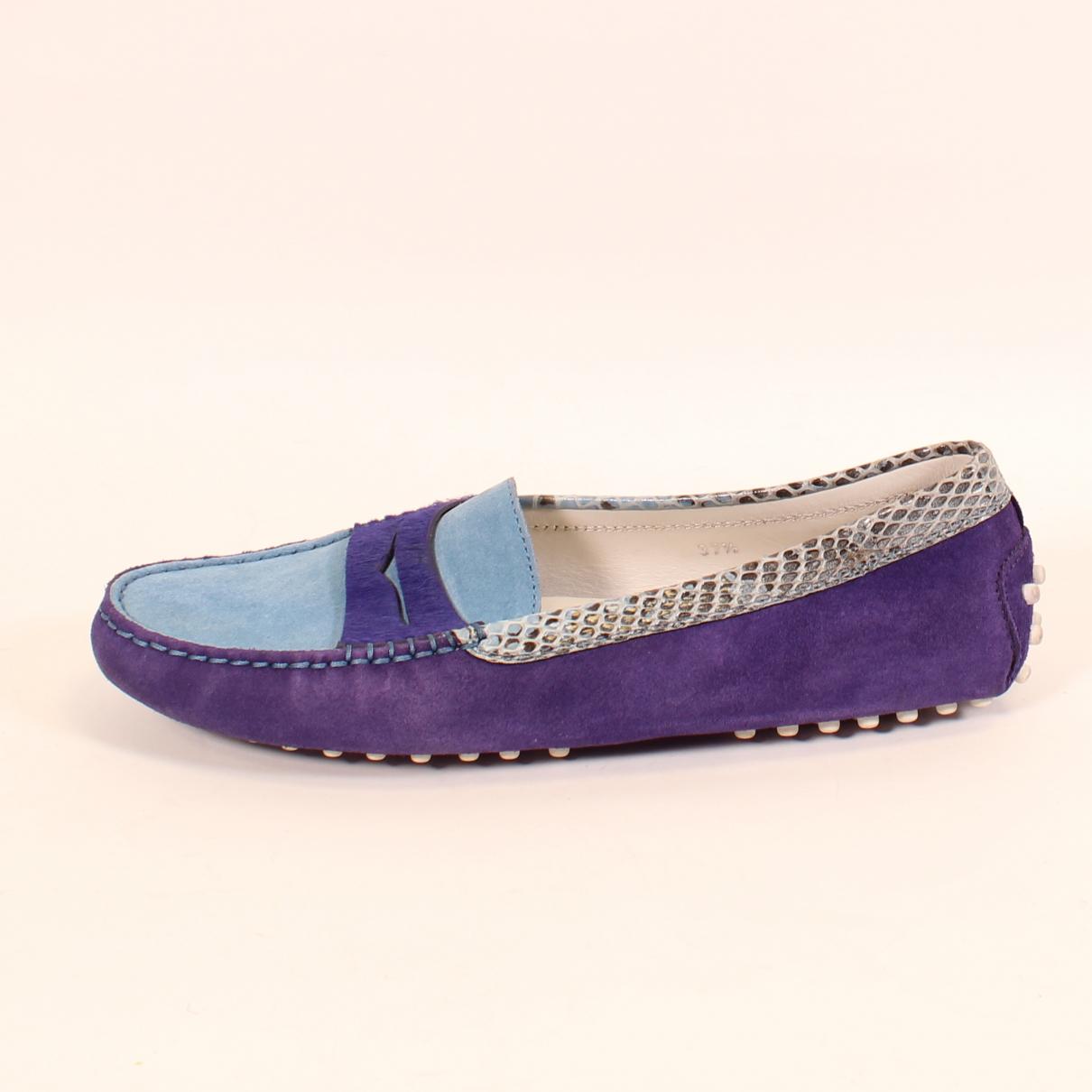 Tod's - Baskets   pour femme en suede - violet