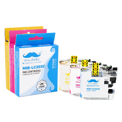 Compatible Brother MFC-J460DW Color Ink Cartridges C/M/Y Combo by Moustache, 3 pack - High Yield