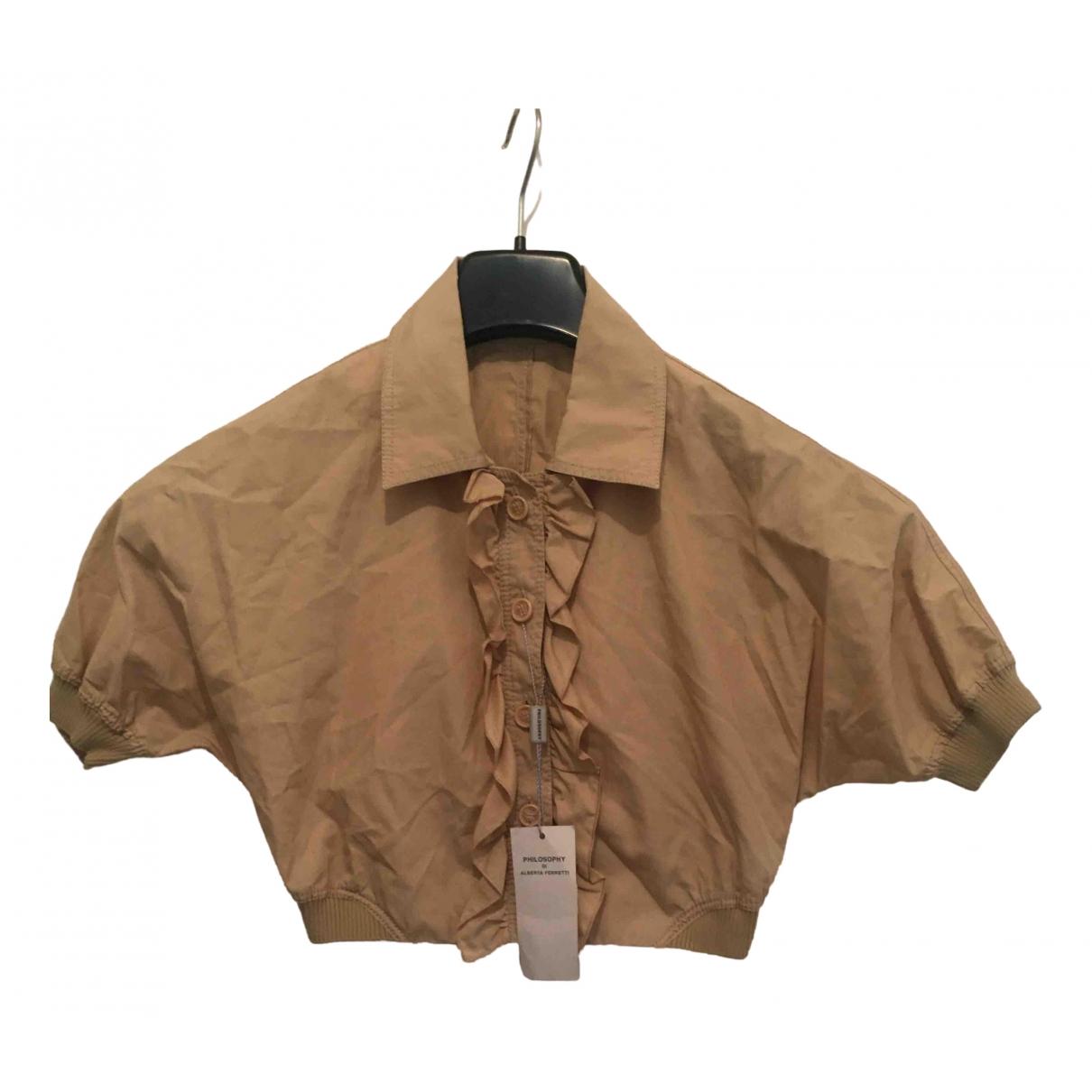Philosophy Di Alberta Ferretti \N Beige Cotton jacket for Women 44 IT