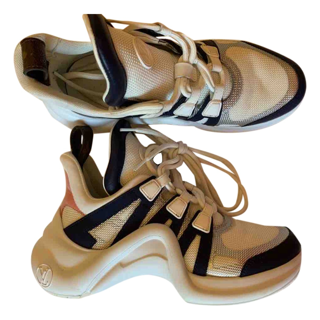Louis Vuitton Archlight Sneakers in  Weiss Leder