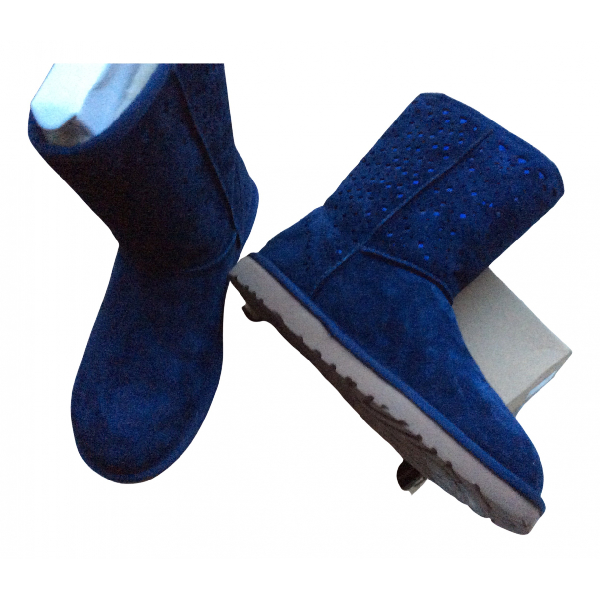 Ugg - Boots   pour femme en suede - bleu