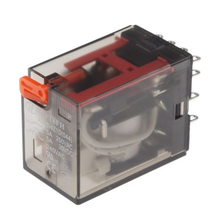 Hongfa Europe GMBH , 240V ac Coil Non-Latching Relay 4PDT, 5A Switching Current Chassis Mount, 4 Pole