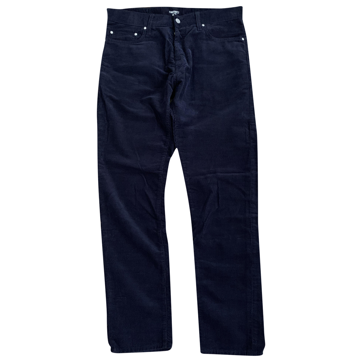 Carhartt \N Navy Velvet Trousers for Men M International