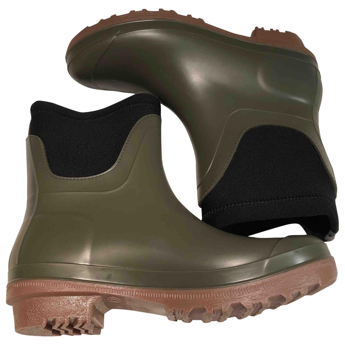Max Mara Weekend - Boots   pour femme en caoutchouc - kaki