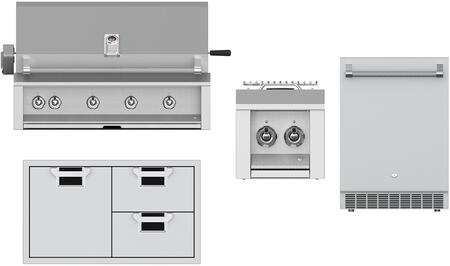4 Piece Outdoor Kitchen Island Package with EMBR42NG 42