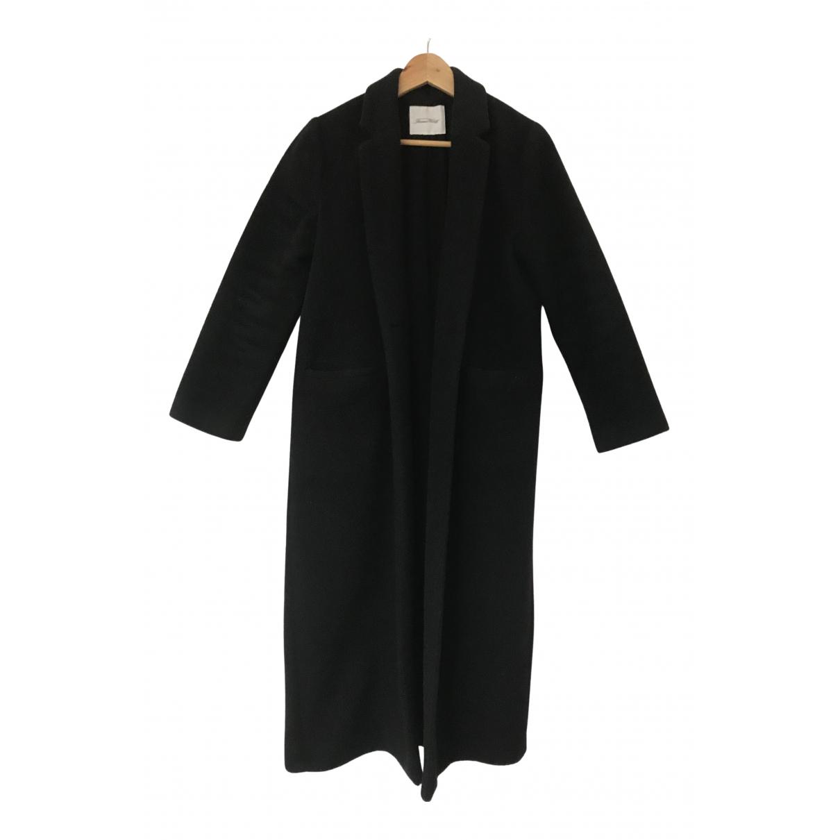 American Vintage - Manteau   pour femme en laine - noir
