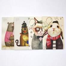 1 Pack Random Cartoon Animal Print Cover Notebook