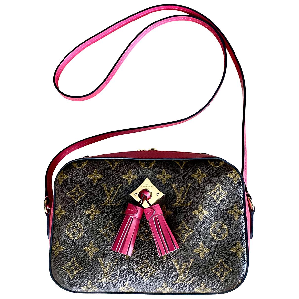 Louis Vuitton - Sac a main Saintonge pour femme en toile - rose