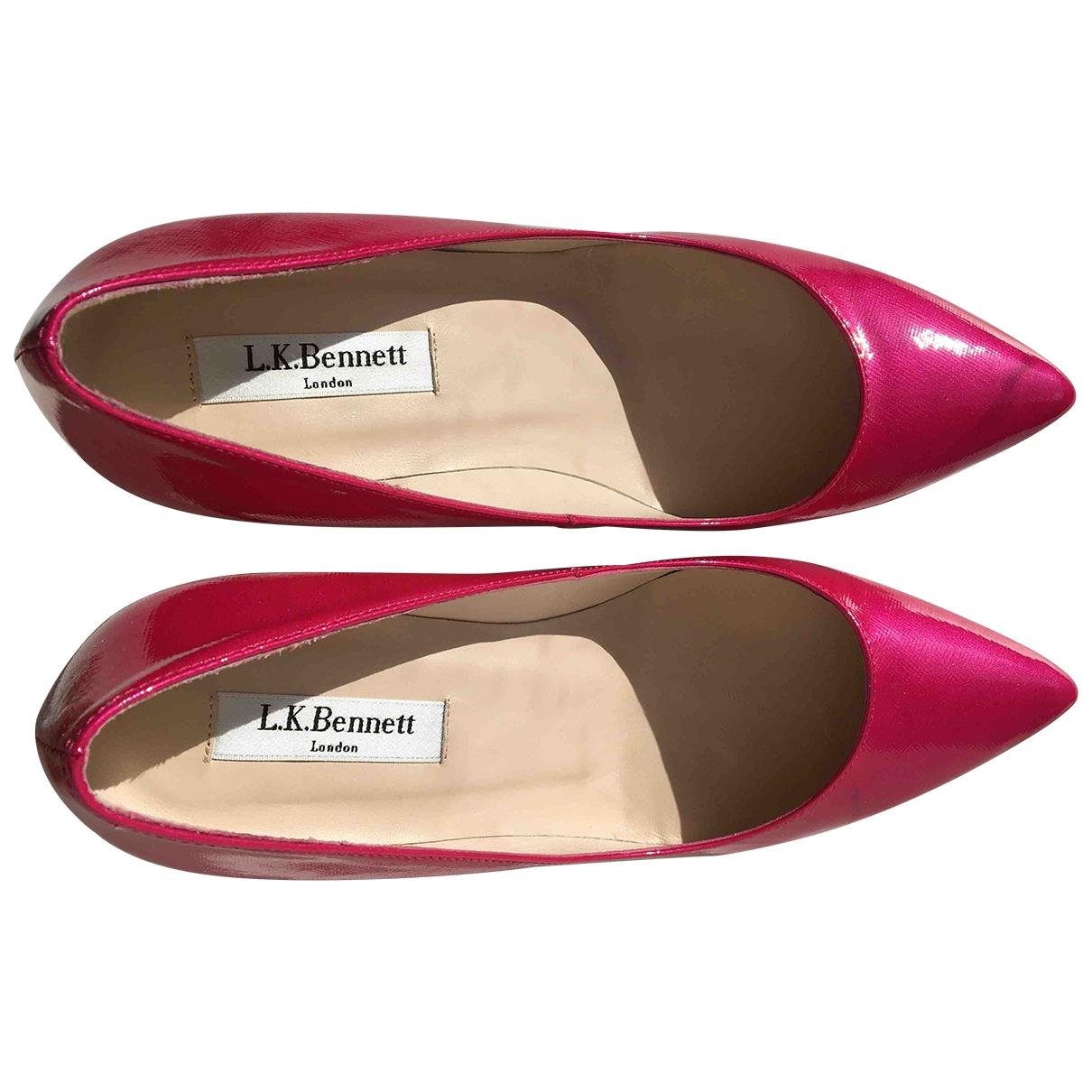 Lk Bennett - Escarpins   pour femme en cuir verni - rose