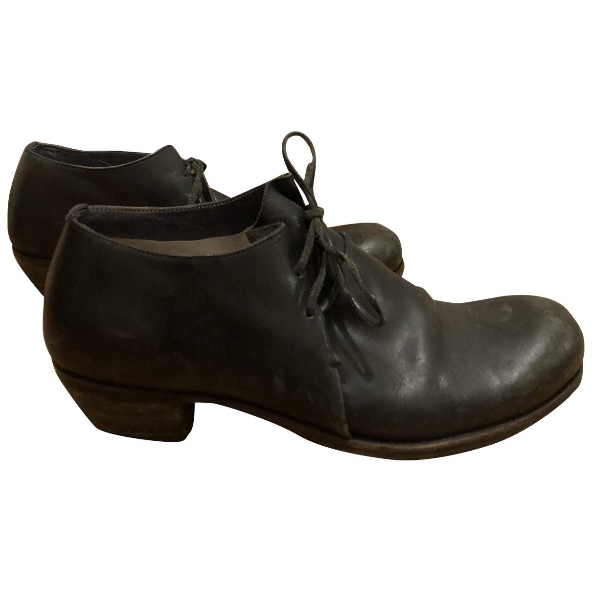 Ma+ - Derbies   pour femme en cuir - noir