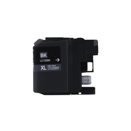 Compatible Brother LC103BK Black Ink Cartridge High Yield - - Economical Box