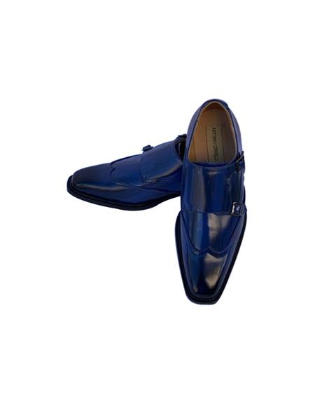 Mens Dress Shoes Navy Blue