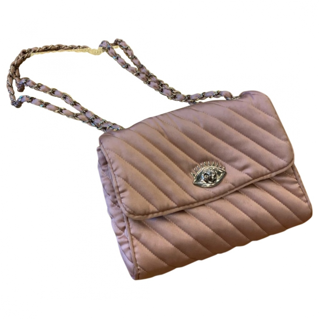 Undercover \N Handtasche in  Rosa Leinen