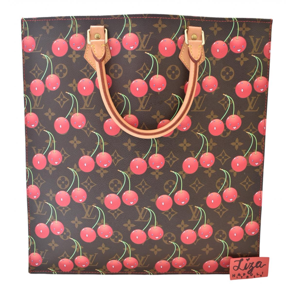 Louis Vuitton Plat Handtasche in  Braun Leinen