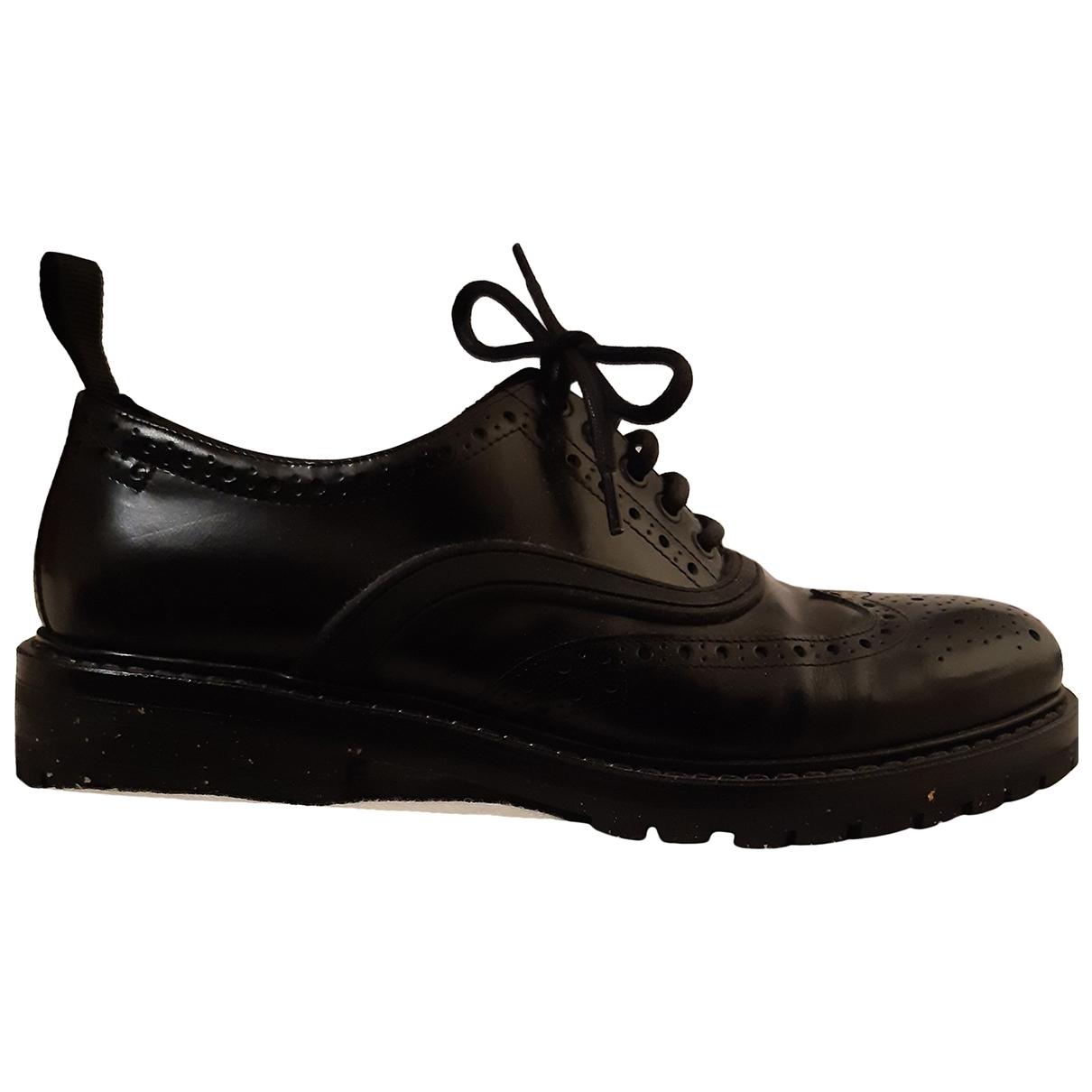 Zara \N Black Leather Lace ups for Men 43 EU