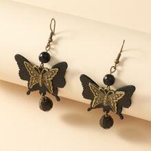 Butterfly Charm Drop Earrings