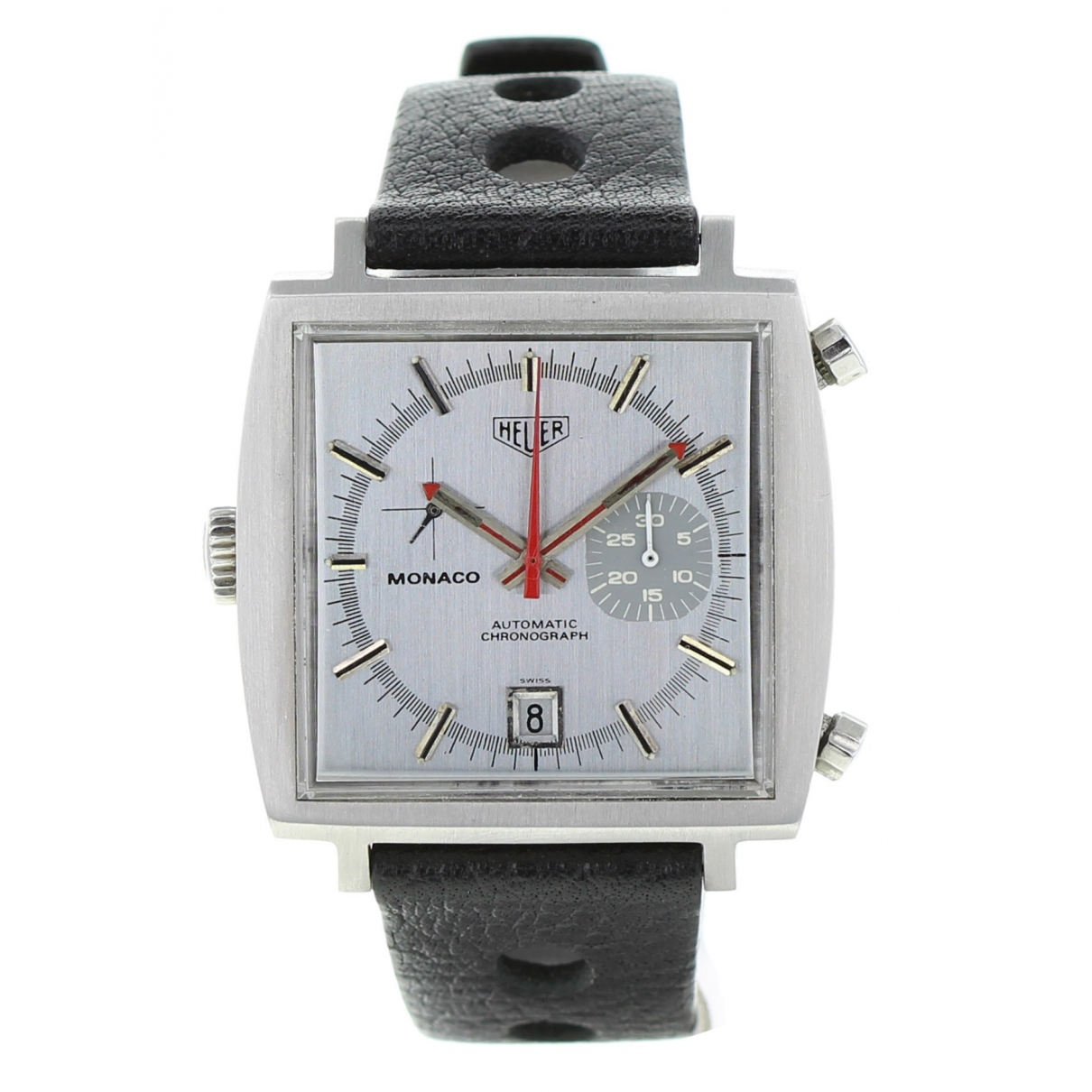 Heuer Monaco Chronographe Steve McQueen Khaki Steel watch for Men \N