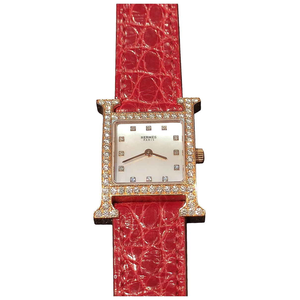 Reloj Heure H de Oro rosa Hermes